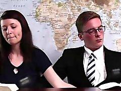Handjob under table for amateur Mormon couple