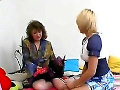Russian Lesbians With A Strapon