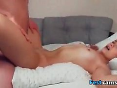 Sexy student woman fucking together with her partner