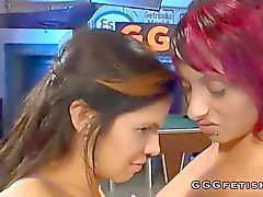 Horny babes get ass fucked and pissed