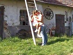 Farm cutie Olivia gets fucked and facialized