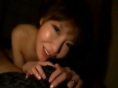 Stacked Oriental nympho hangs on for a stiff rod and a deep
