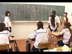 asiático colegio sexo en grupo