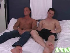 Allen spreads Zacks ass for a good taste of that virgin hole