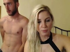 Sexy blonde with her bf having fuck