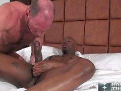 Champ's huge load onto Randy's juicy rosebud ass lips