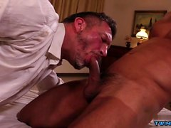 Hot son threesome and facial