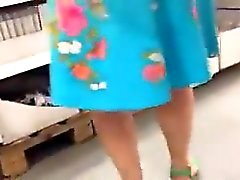 Oblivious babes are targeted by a spycam for upskirt shots