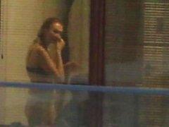 spying blond neighbour b - 4