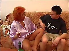 Red Head BBW Mom and Not Her Son Fuck