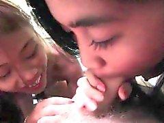 Hot Filipina Whores Maya and Lai Suck Cock