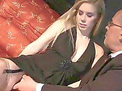corno dupla penetração lingerie meias