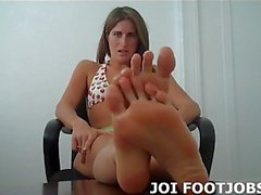 Let me wiggle my little toes in your face JOI