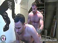 Kinky BDSM gay scene with spanking part1