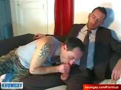 Jerome innocent vendor serviced his big cock by a guy!