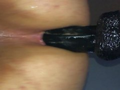 Hands free prostate multiple cumshots bbc dildo