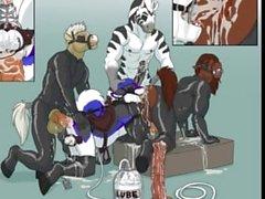 eşcinsel kürklü homoseksüel - tüylü bir animasyon canlandırılmış