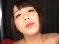 asiatique pipe brunette éjaculation