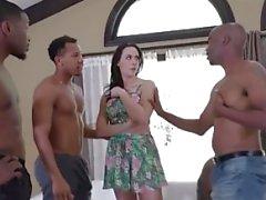 sexo em grupo interracial dupla penetração gangbang