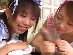 asiatisk brunett hårig handjob