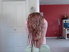 amateur rotschopf dusche solo