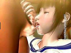 masturbação anime desenho animado