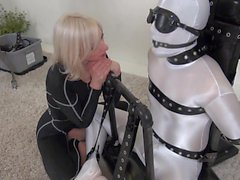 Bound slave milked dry by rubber fleshlight YUMMIE