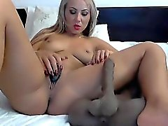 big boobs blondine masturbation solo