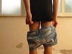 Jessykyna dress spanking - crossdresser