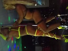 Transgender women dancing at a strip club in Houston TX