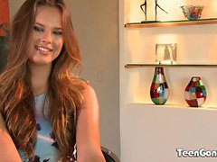 TEENGONZO Nice tits Jillian Janson filled up with white cock