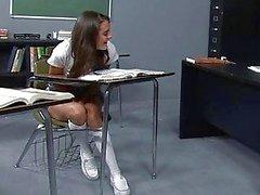 klas naakte schoolmeisjes school
