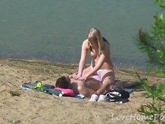 amateur playa rubia