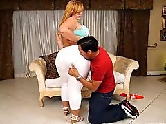 bbw blondine blowjob fett