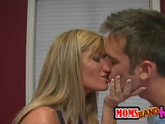 Sweetie Avril Hall threesome with MILF