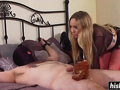 Aiden Starr tortures her tied up man
