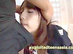Very Cute Jav Idol Teen Schoolgirl Pussy Sucked And Fucked In Her Uniform