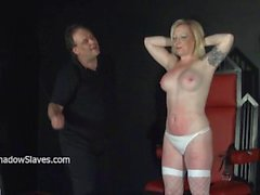 Angels breast whipping and frontal spanking of blonde milf in hardcore bd
