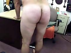 Naked straight guy masturbating for gays for cash in office