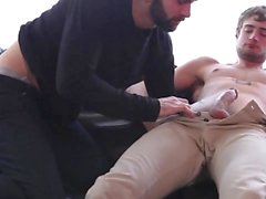 Stud gets his hairy hole fucked.
