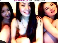 любительский азиатский лесбиянка тройка