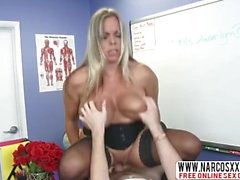 Sensitive Not Mother Amber Bach In Stockings Wants Slow Sex