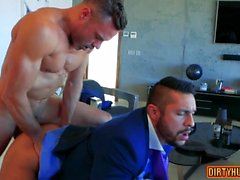 Muscle gay anal sex and cumshot
