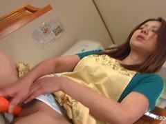 asiático morenas japonés masturbación