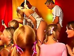 Horny party chicks fucking in club