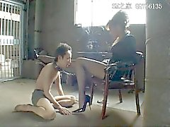 Smoking Asian Mistress and Lucky slave 3/13/16