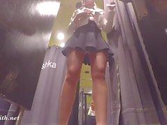 julkinen alastomuus upskirts nylon korkokengät sukkahousut