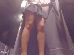 offentlig nakenhet upskirts nylon höga klackar strumpbyxor