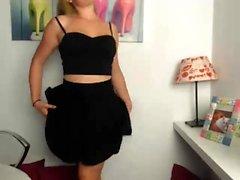amatööri blondi strip-tease teini-ikäinen webcam