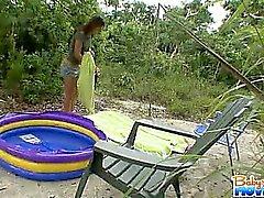 amatör babysitter utomhus
